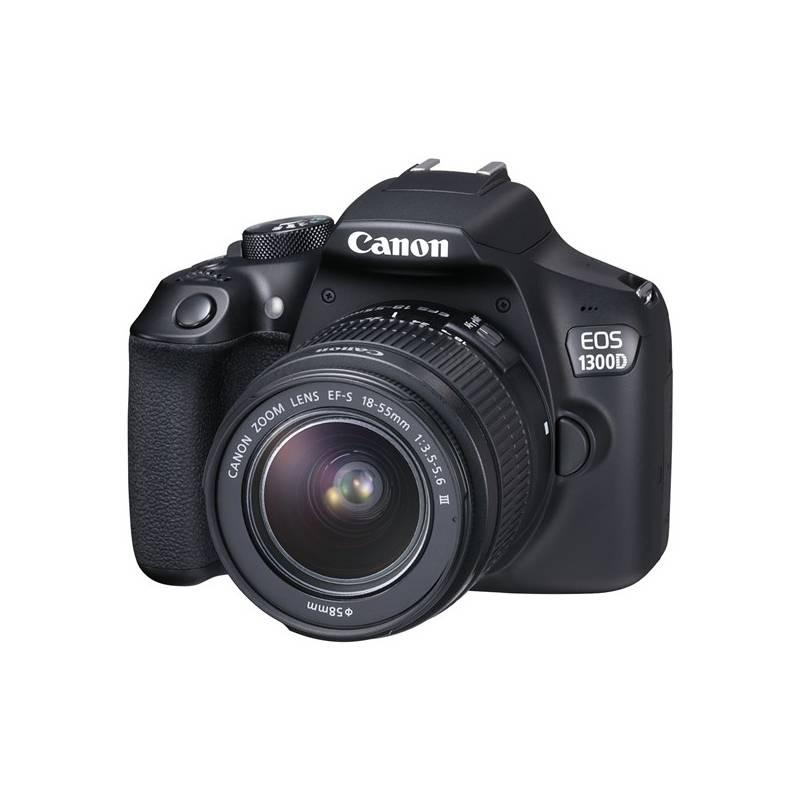 Digitálny fotoaparát Canon EOS 1300D 18-55 DC + 75-300 DC (1160C049AA) čierny Příslušenství Canon CAMERA ACC KIT SD 8GB+100EG+LC + Doprava zadarmo