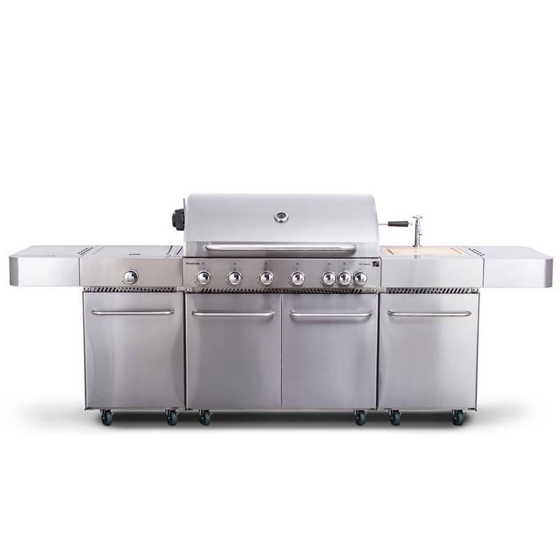 Gril zahradní plynový G21 Nevada BBQ kuchyně Premium Line, 7 hořáků