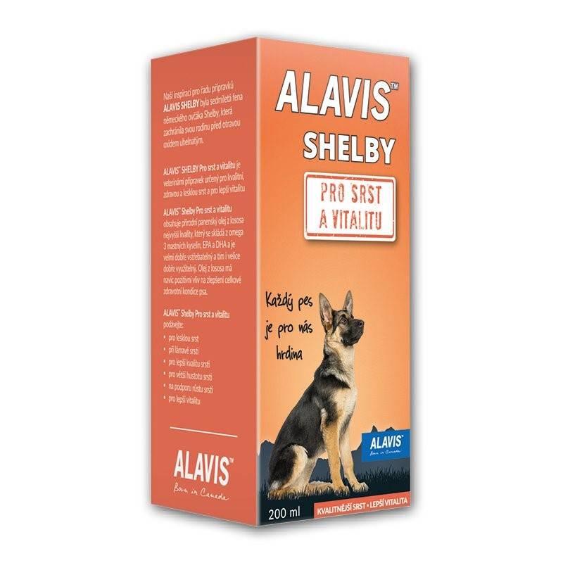 Sirup Alavis SHELBY pro srst a vitalitu 200 ml