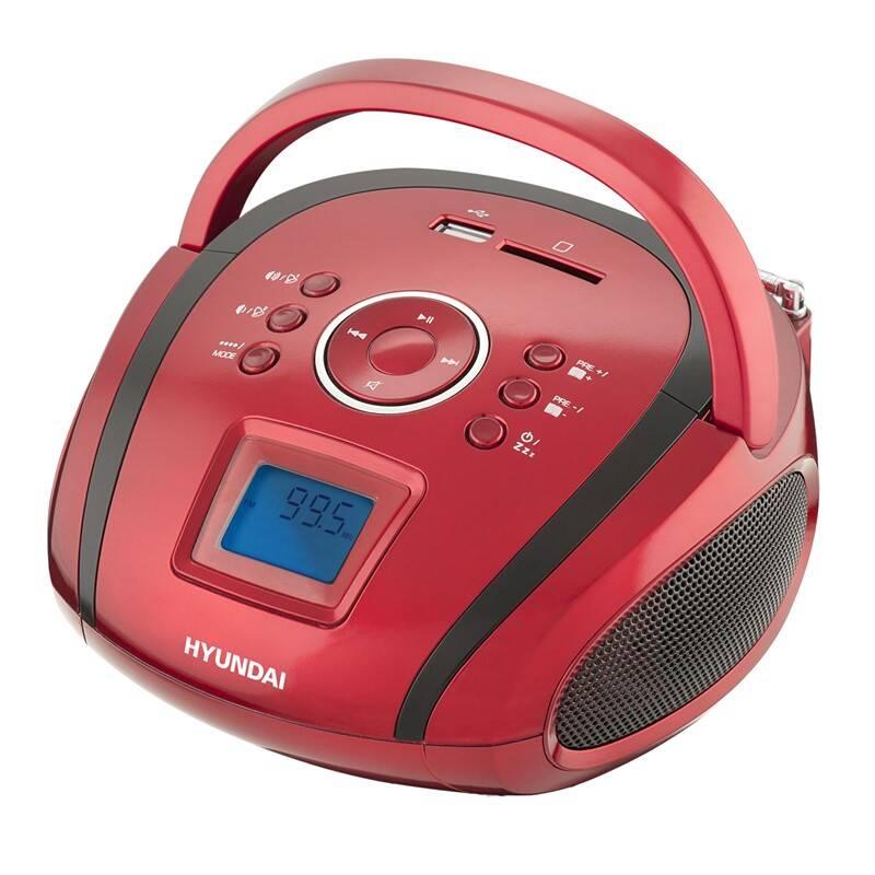 Rádioprijímač Hyundai TR 1088 SU3RB čierny/červený