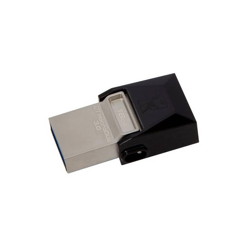 USB flash disk Kingston DataTraveler Micro Duo 3.0 16GB OTG MicroUSB/USB 3.0 (DTDUO3/16GB) čierny