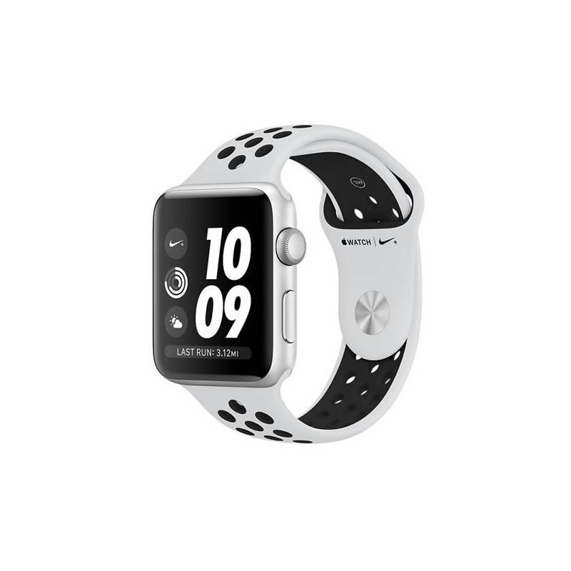 Chytré hodinky Apple Watch Series 3 Nike+ 42mm pouzdro ze stříbrného hliníku - bílý Nike řemínek (MQL32CN/A) + Doprava zadarmo