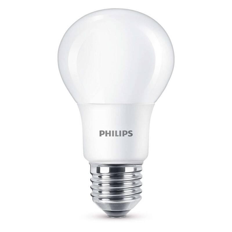 LED žiarovka Philips klasik, 8W, E27, teplá bílá (8718696577073)