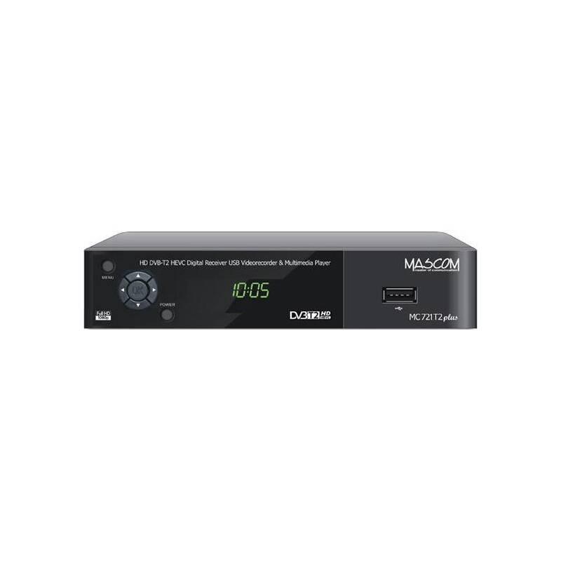 Set-top box Mascom MC721T2 HD PLUS Senior čierny
