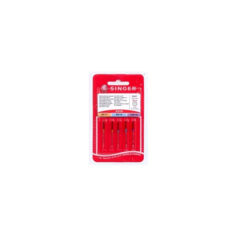 Príslušenstvo pre šijacie stroje Singer - jehly BLISTER 822 - 2020/80,90,100 5 ks