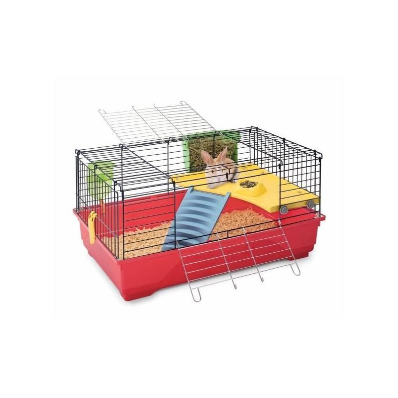 Klietka Argi pro králíky a morčata 80 x 48,5 x 42 cm červená