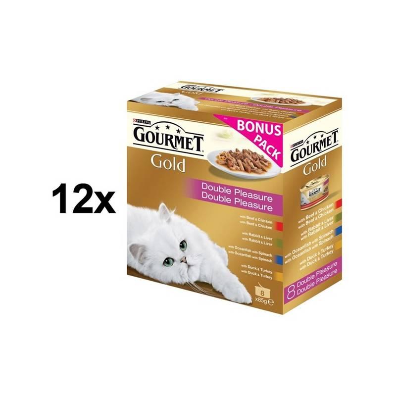 Konzerva Gourmet Gold zmes dusených a grilovaných kúskov Multipack 12 x (8 x 85g)