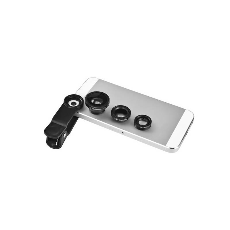 Set mini objektívov GoGEN 3in1, široký úhel, rybí oko, makro (GOGLENSKIT301)