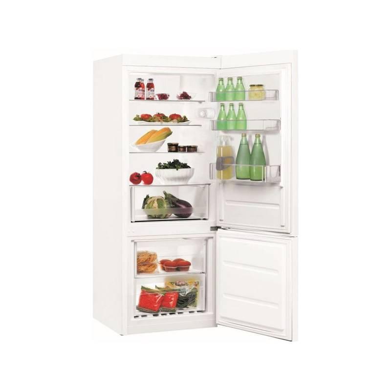 Kombinácia chladničky s mrazničkou Indesit LI6 S1 W biela