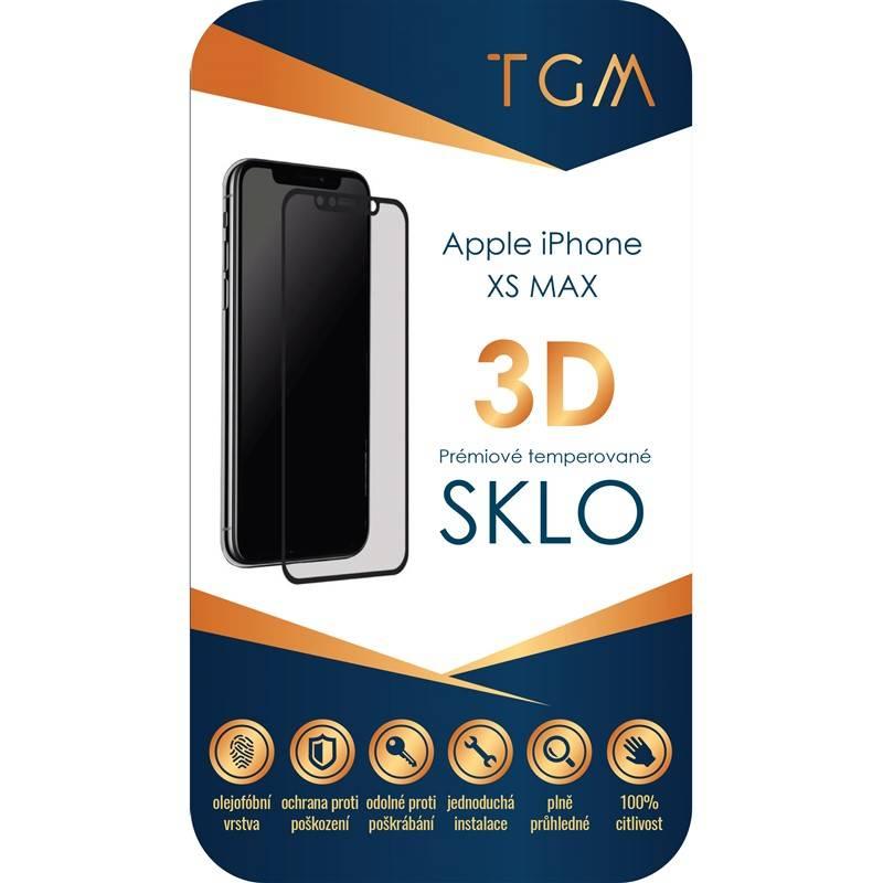 Ochranné sklo TGM 3D pro Apple iPhone Xs Max (TGM3DAPIPXSMBK) černé