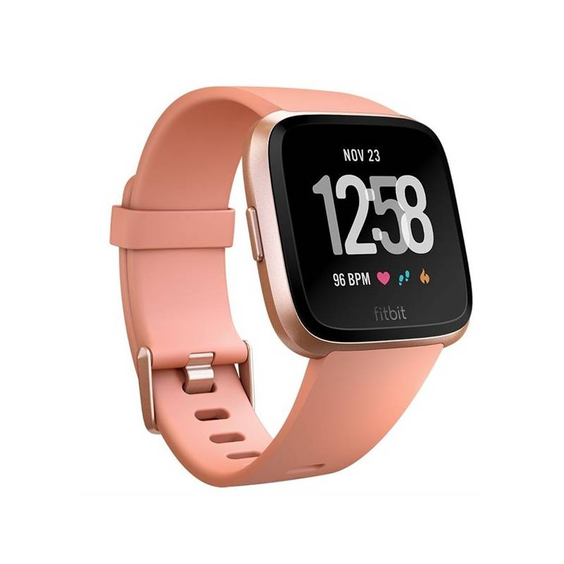 Chytré hodinky Fitbit Versa (NFC) - Peach / Rose Gold Aluminum (FB505RGPK-EU)