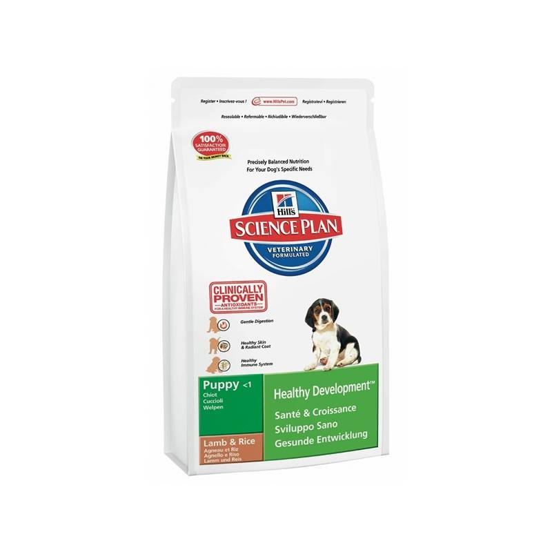 Granule Hill's Canine Puppy Lamb&Rice, 12 kg
