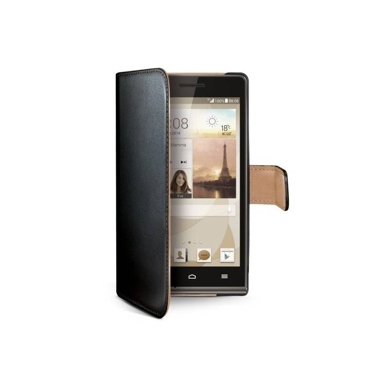 Puzdro na mobil flipové Celly WALLY pro Huawei Ascend G6 (WALLY430) čierne