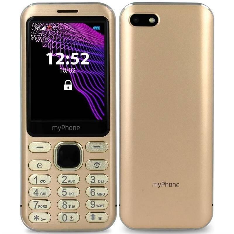 Mobilní telefon myPhone Maestro (TELMYMAESTROGO) zlatý