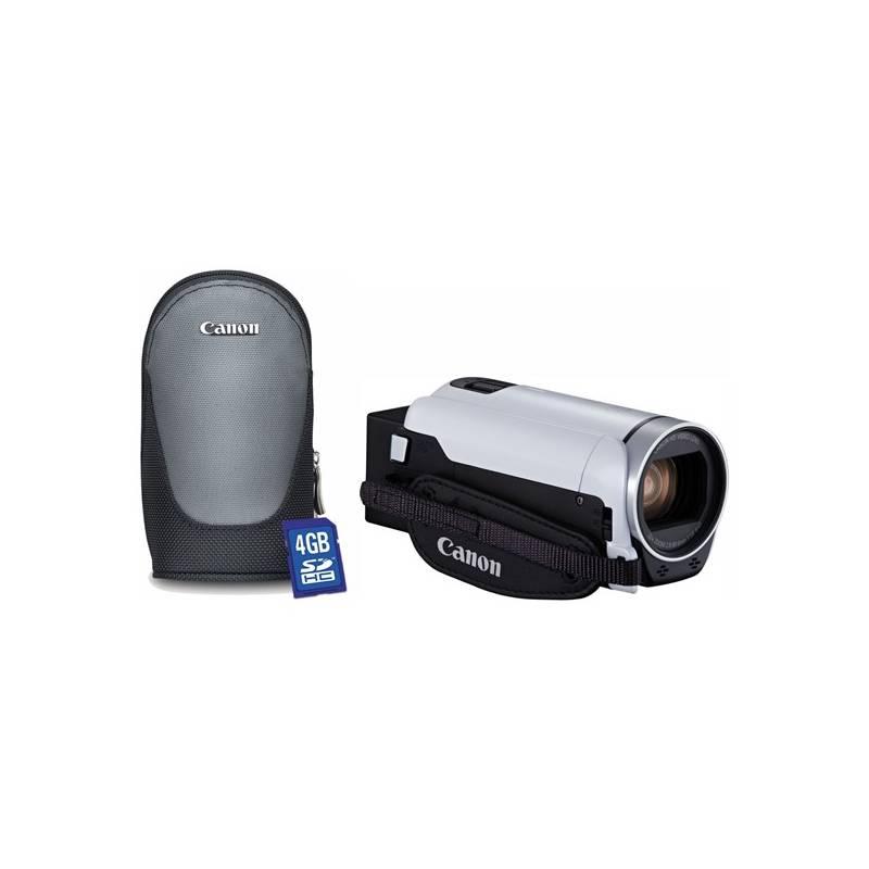 Videokamera Canon R806 Essential Kit + pouzdro + karta (1960C018) biela