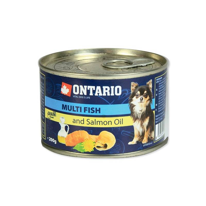 Konzerva Ontario Adult Mini multi fish a lososový olej 200 g