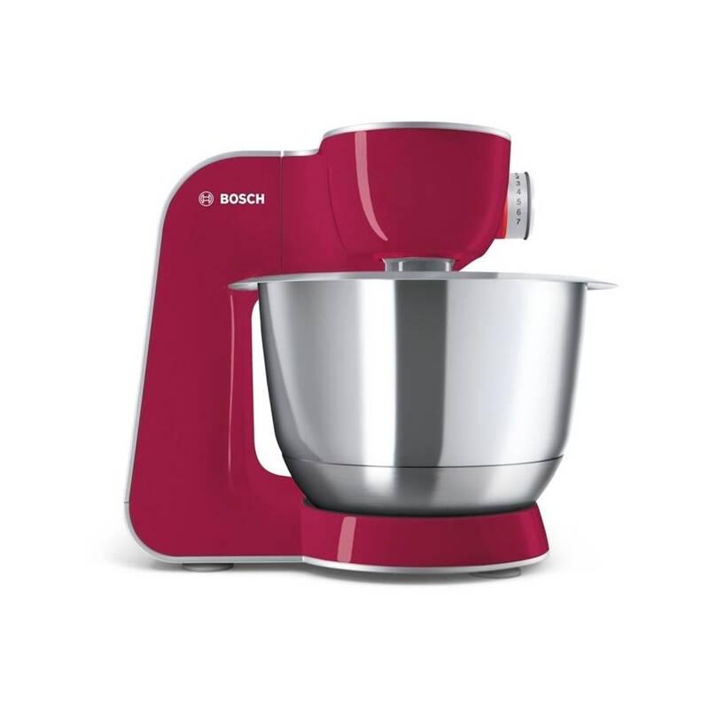 Kuchynský robot Bosch CreationLine MUM58420 strieborný/červený + Doprava zadarmo