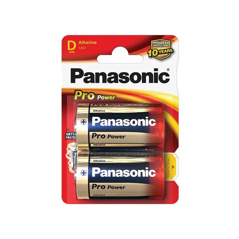 Batéria alkalická Panasonic D, R20, Pro Power, blistr 2ks