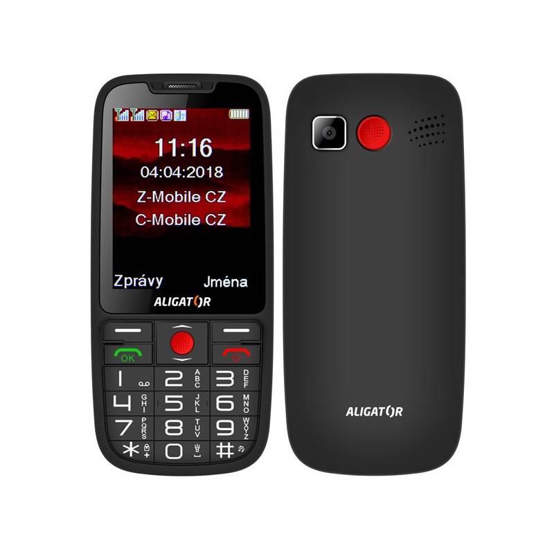 Mobilný telefón Aligator A890 Senior (A890BK) čierny