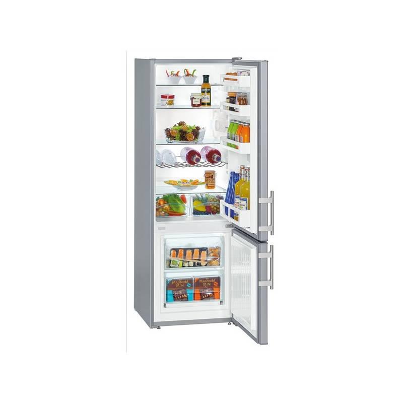 Kombinácia chladničky s mrazničkou Liebherr CUsl 2811 strieborná + Doprava zadarmo