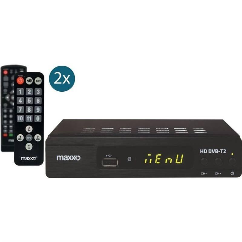 Set-top box Maxxo STB T2 + senior ovladač černý
