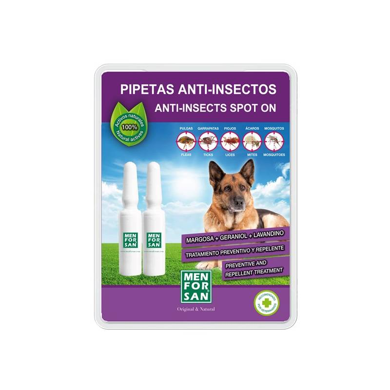 Pipeta Menforsan antiparazitná pipeta pre psy 2 x 1,5 ml