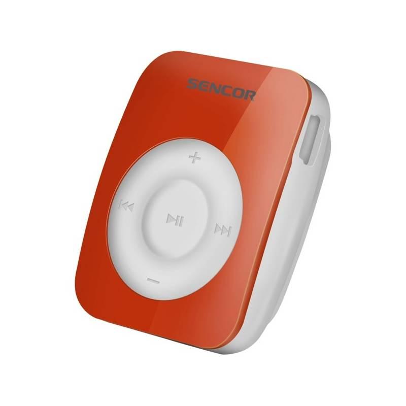 MP3 prehrávač Sencor SFP 1360 GN 4GB (352786) červený