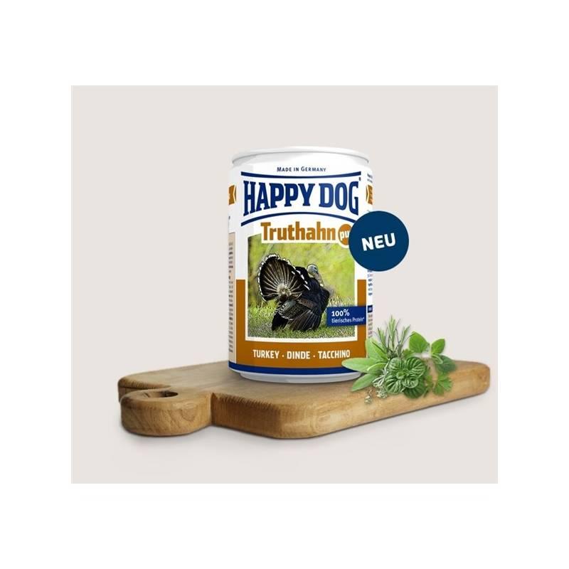 Konzerva HAPPY DOG Truthahn Pur - 100% krůtí maso 800 g