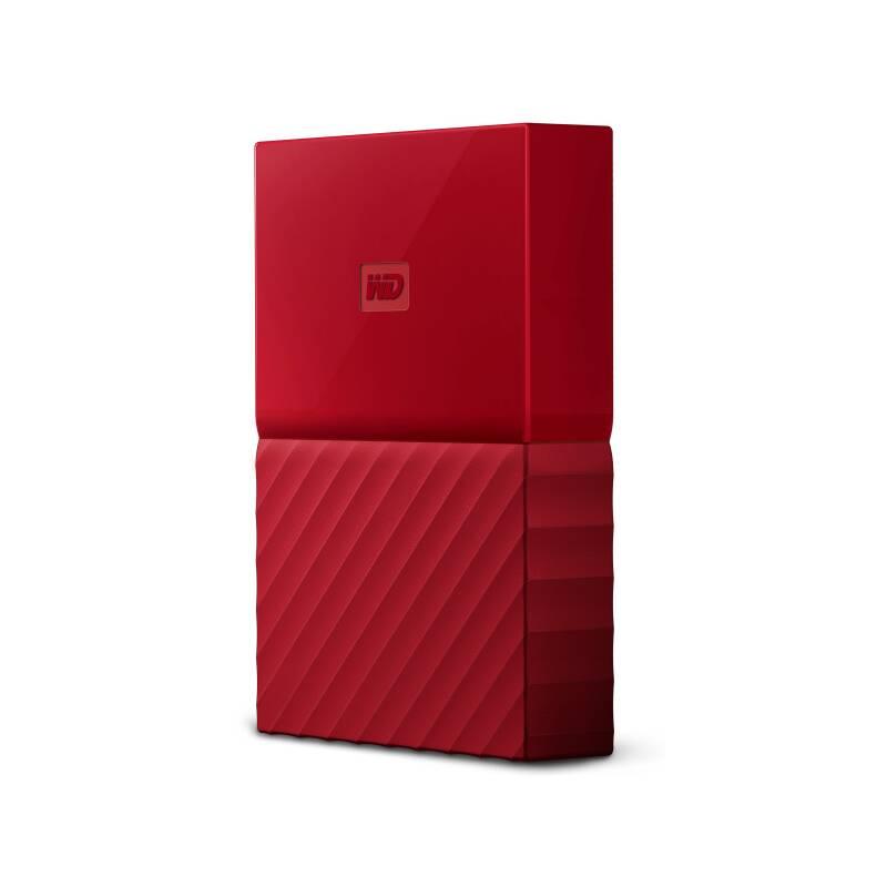 "Externí pevný disk 2,5"" Western Digital My Passport 2TB, USB 3.1 (WDBS4B0020BRD-WESN) červený"