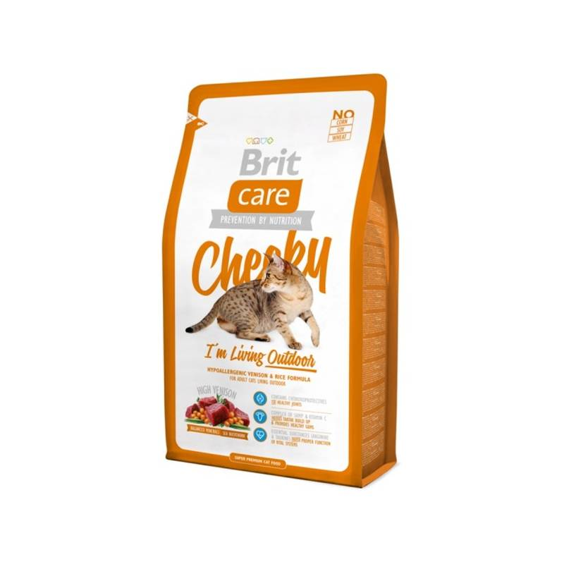 Granule Brit Care Cat Cheeky I´m Living Outdoor 2 kg