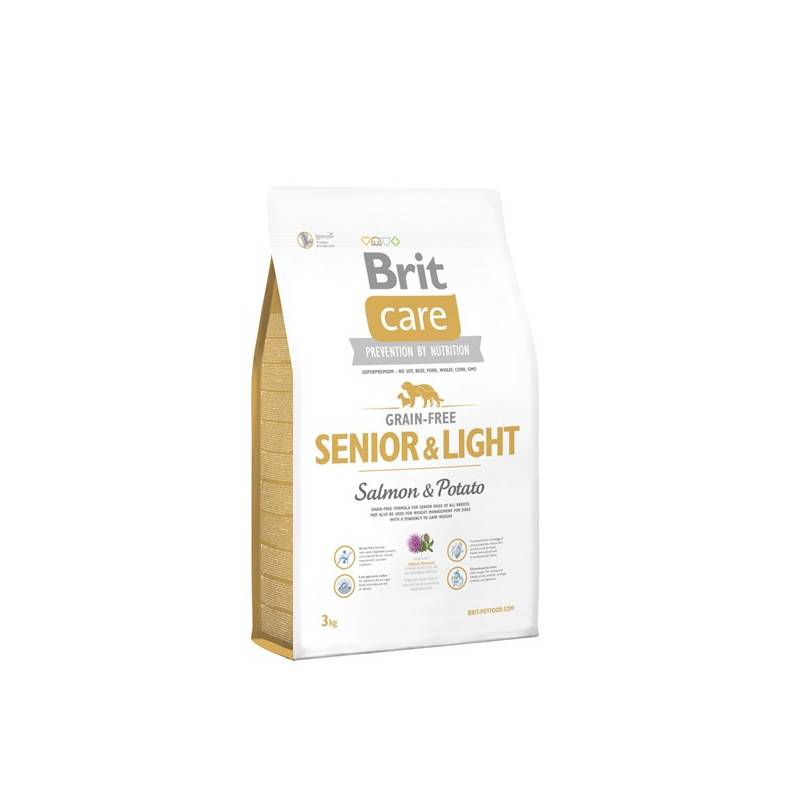 Granule Brit Care Grain-free Senior & Light Salmon & Potato 3 kg
