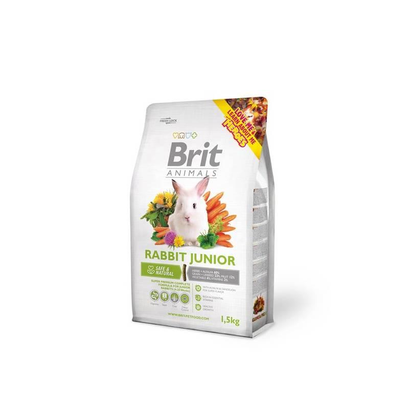 Krmivo Brit Animals Rabbit Junior Complete pro hlodavce 1,5kg
