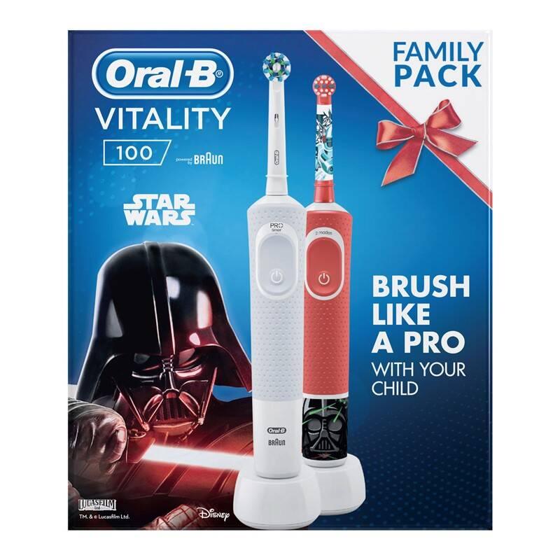 Set zubných kefiek Oral-B Vitality 100 D100 Adults White CA + D100 Star Wars + Extra zľava 20 % + Doprava zadarmo