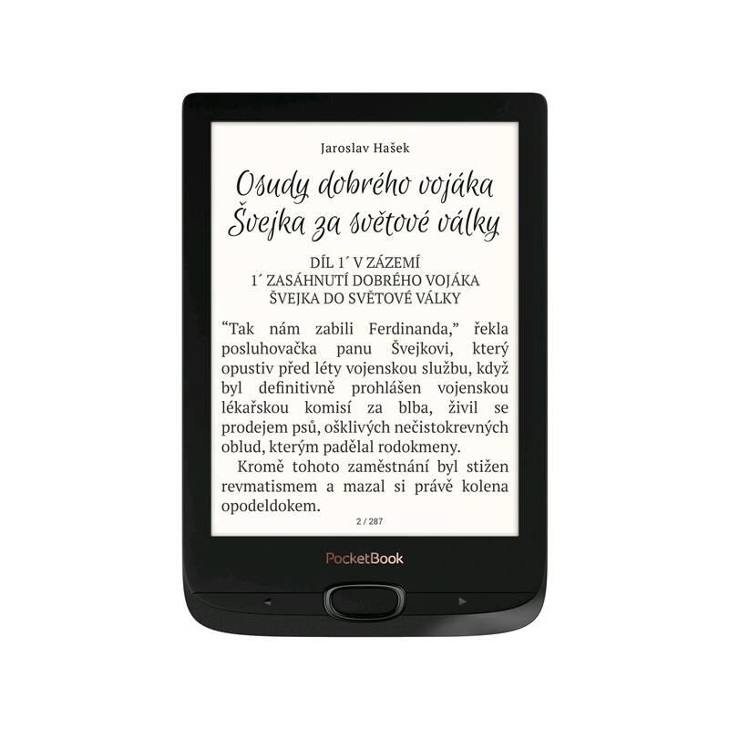 Čítačka kníh Pocket Book 616 Basic Lux 2 (PB616W-H-WW) čierna