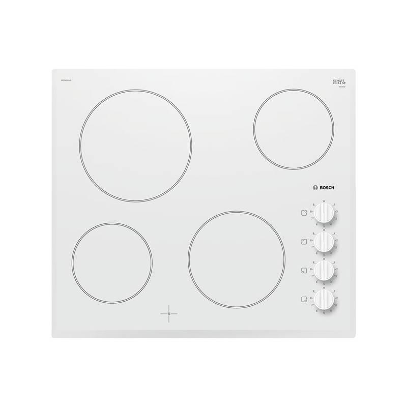 Sklokeramická varná deska Bosch PKE652CA1E bílá