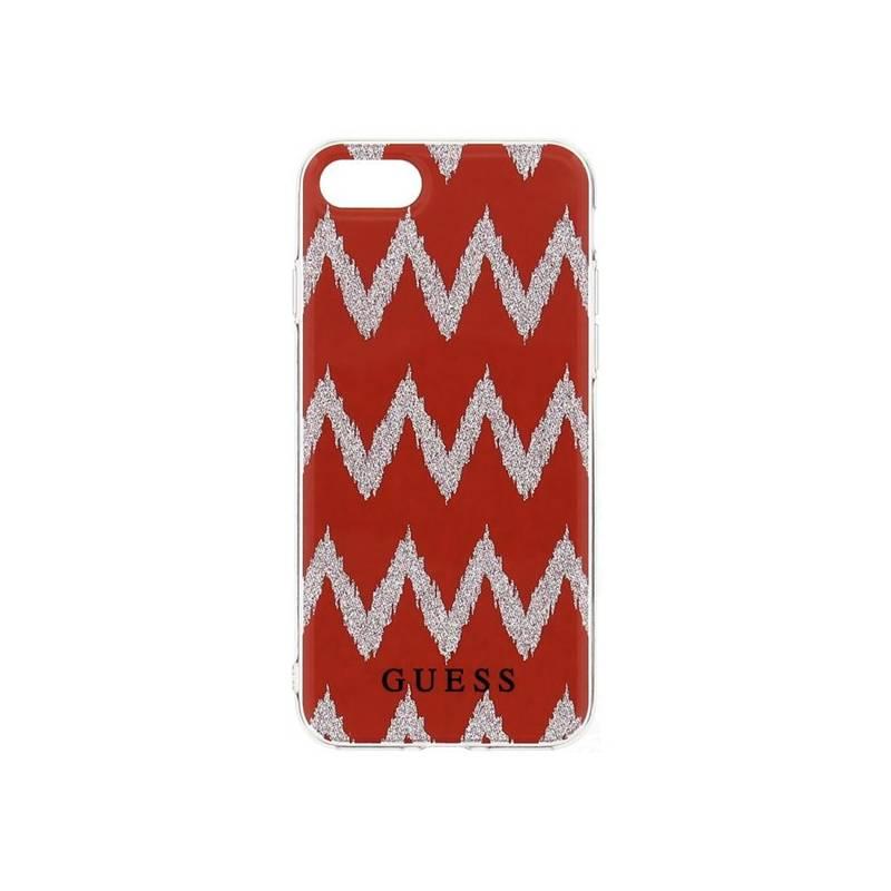 Kryt na mobil Guess Ethnic Chic Chevron 3D pro Apple iPhone 7/8 (31796) červený