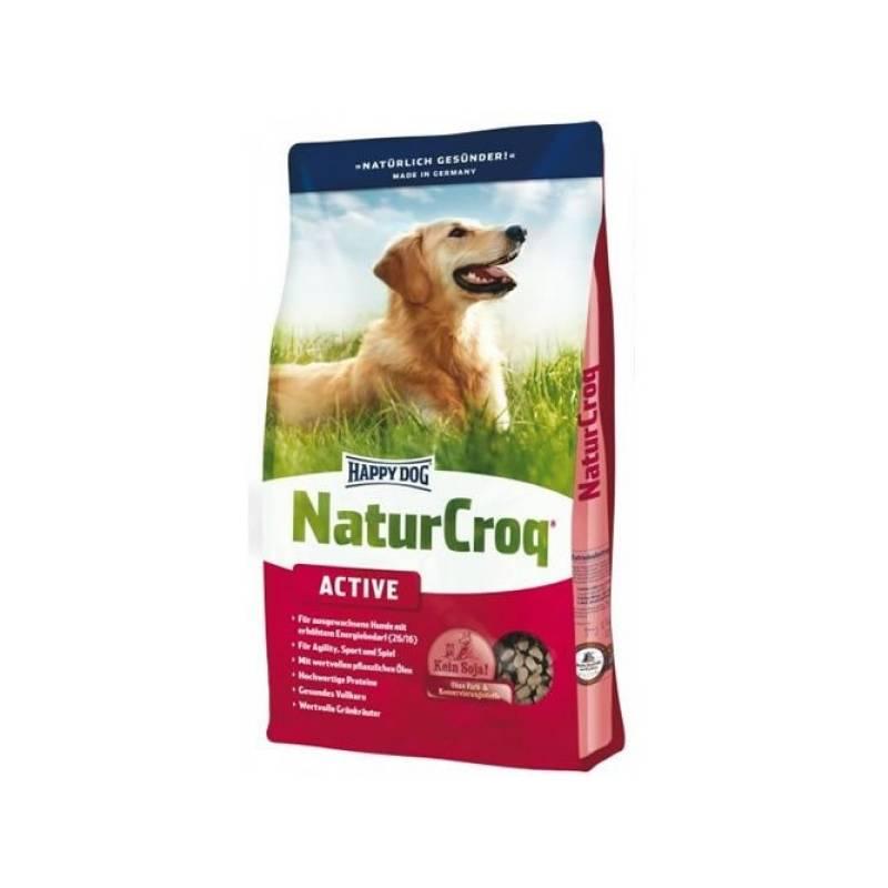 Granule HAPPY DOG Natur- Croq ADULT Active 15 kg + Antiparazitní obojek Scalibor Protectorband pro psy - 48 cm v hodnote 12.00 €