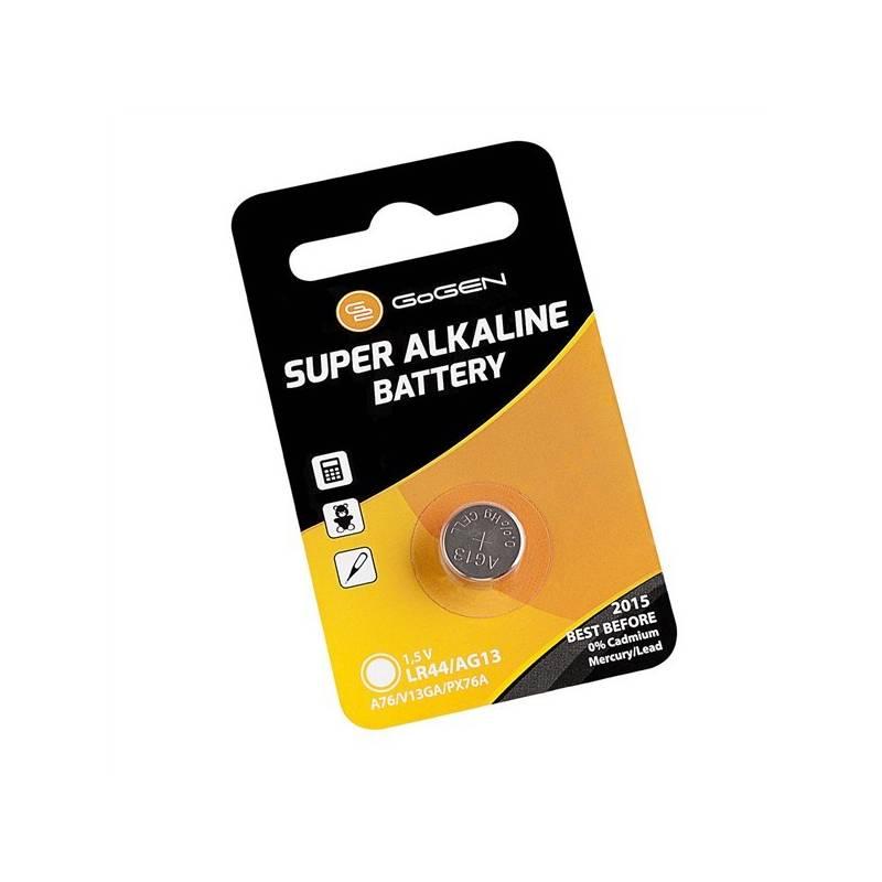 Batéria alkalická GoGEN SUPER ALKALINE LR44, blistr 1ks (GOGLR44ALKALINE1) čierna/oranžová