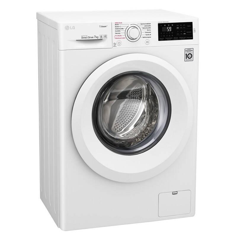 Pračka LG F72J5HY3W bílá barva + LG 10 let záruka na invertorový motor