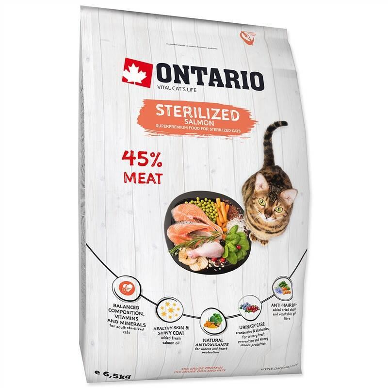 Granuly Ontario Cat Sterilised Salmon 6,5kg + Doprava zadarmo