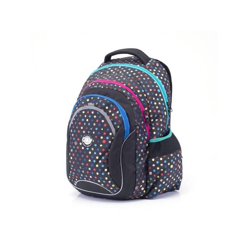 Batoh školský P + P Karton anatomický OXY Fashion Dots Sáček na přezůvky P + P Karton OXY Neon Dark Blue (zdarma)