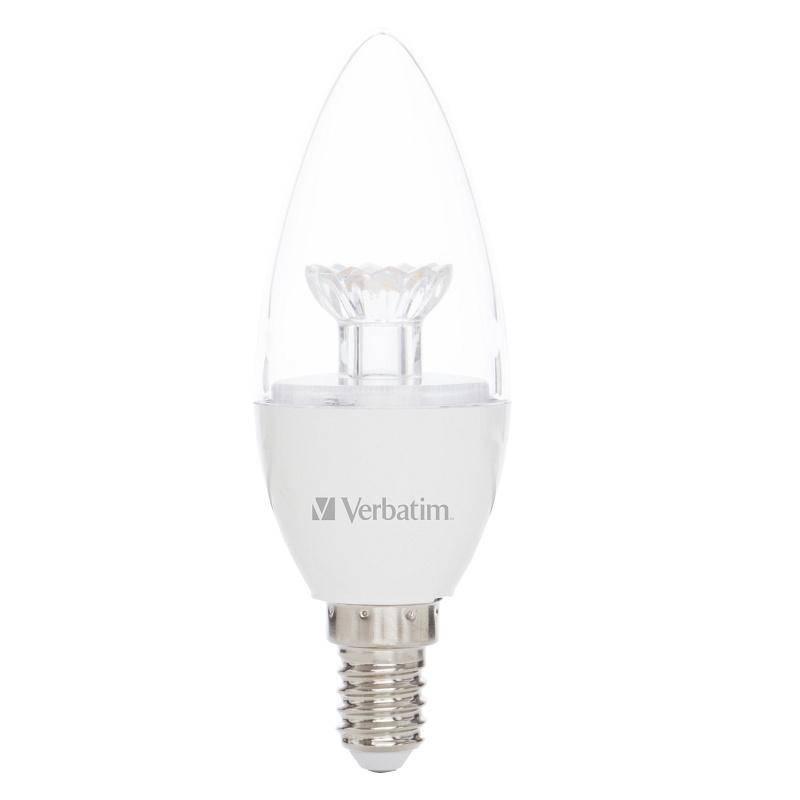 LED žiarovka Verbatim E14, 4,5 W, teplá bílá 2700 K čirá (419071)
