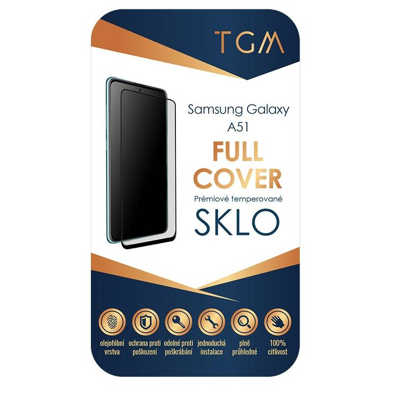 Ochranné sklo TGM Full Cover pro Samsung Galaxy A51 (TGMSAMA51) čierne