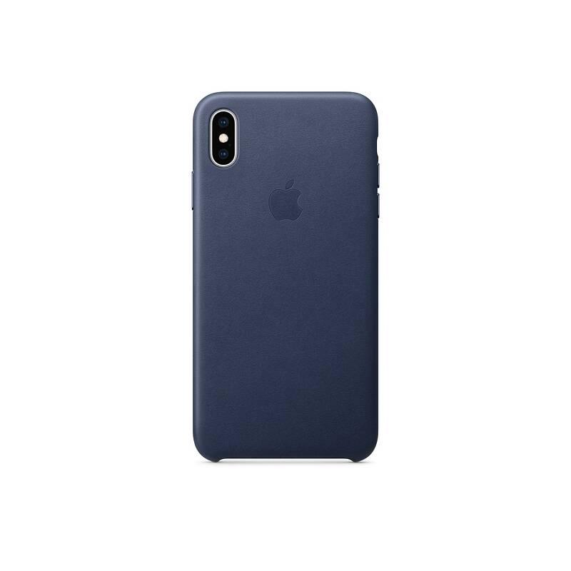 Kryt na mobil Apple Leather Case pro iPhone Xs Max - půlnočně modrý  (MRWU2ZM A) abb1911e9ca
