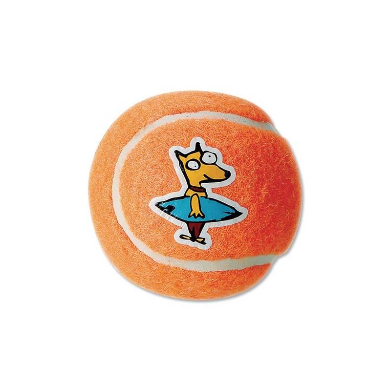 Hračka Rogz Molecules tenisák 8cm oranžová
