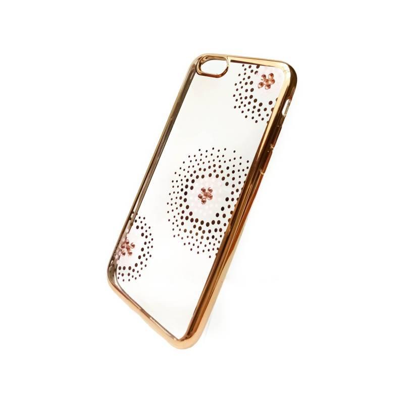 Kryt na mobil Beeyo Flower Dots pro Apple iPhone 6/6s (BEAAPIP6TPUFLGO) zlatý
