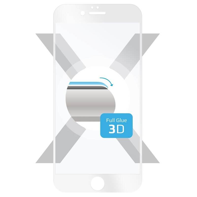 Tvrdené sklo FIXED 3D Full-Cover na Apple iPhone 6/6S (FIXG3D-003-WH) biele
