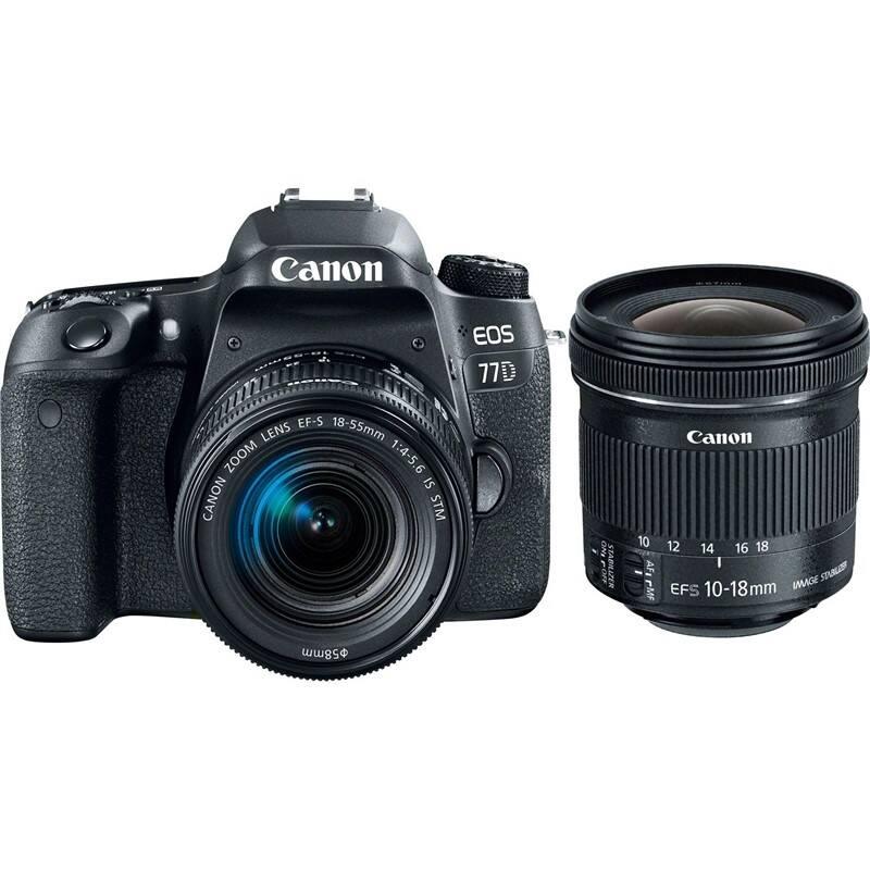 Set výrobkov Canon EOS 77D + 18-55 IS STM + EF-S 10-18 mm f/4.5-5.6 IS STM + Doprava zadarmo