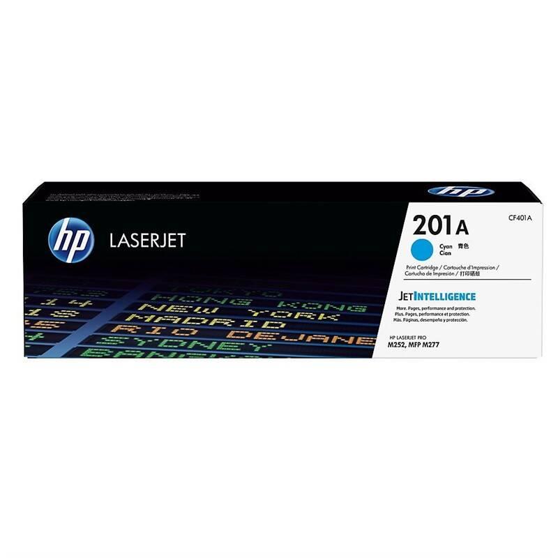 Toner HP 201A, 1400 stran (CF401A) modrý