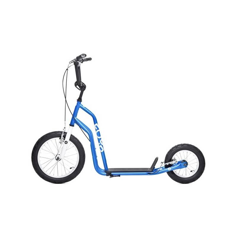Kolobežka Yedoo Basic Four 04 modrá + Reflexní sada 2 SportTeam (pásek, přívěsek, samolepky) - zelené v hodnote 2.80 € + Doprava zadarmo